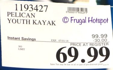 Costco Sale Price: Pelican 6' Solo Youth Kayak