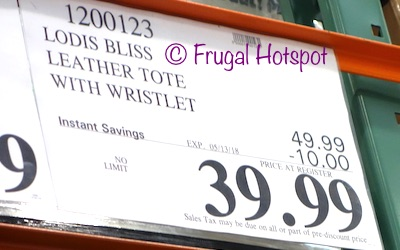 Costco Sale Price: Lodis Bliss Leather Tote with Wristlet