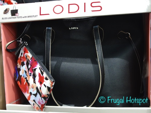 Lodis Bliss Leather Tote with Wristlet at Costco