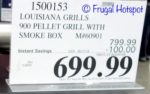 Costco Price: Louisiana Grills 900 Pellet Grill with Smoke Box