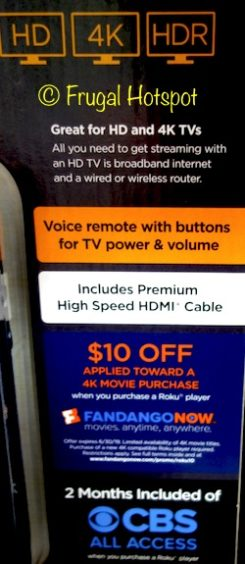 Roku Ultra 4K Streaming Player with Remote at Costco