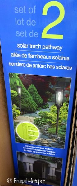 Naturally Solar Torch Pathway Lights 2-Pack at Costco