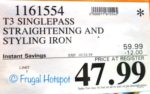 "Costco Sale Price: T3 Singlepass 1"" Straightening and Styling Iron"