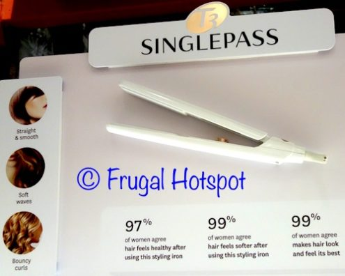 "T3 Singlepass White and Rose Gold 1"" Straightening and Styling Iron at Costco"