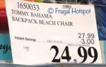 Costco Sale Price: Tommy Bahama Backpack Beach Chair