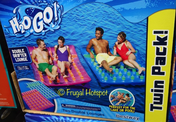 Bestway H2O Go! Double Drifter Lounge 2-Pack at Costco