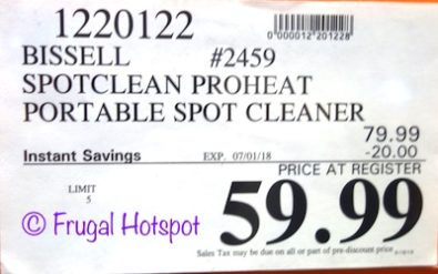 Costco Sale Price: Bissell SpotClean ProHeat Portable Spot Cleaner