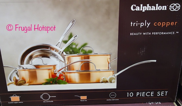 Calphalon 10-Piece TriPly Copper Cookware Set at Costco