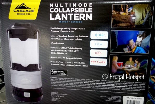Cascade Mountain Tech 3-Pk Collapsible Lantern at Costco