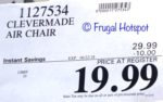 Costco Sale Price: CleverMade QuikFill AirChair