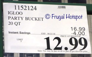 Costco Sale Price: Igloo Party Bucket Cooler