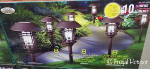 Naturally Solar LED Vintage Style Pathway Lights 8-Pk at Costco