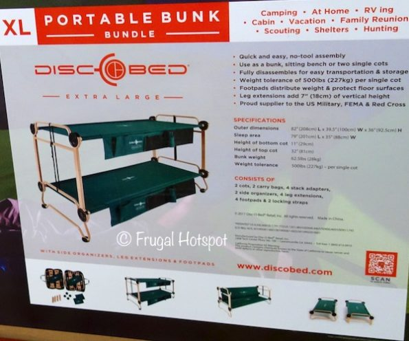 Disc-O-Bed Portable XL Bunk Bundle at Costco
