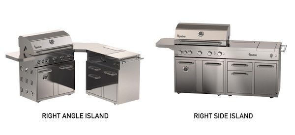Arrangement Options for Signateur Island Grill with Smoker at Costco