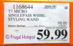 Costco Sale Price: T3 Professional SinglePass Whirl Styling Wand