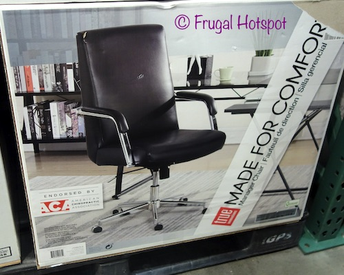 True Innovations Leather Manager Chair at Costco