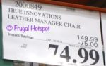 Costco Price: True Innovations Leather Manager Chair