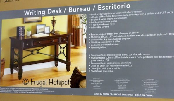 "Well Universal 54"" Writing Desk at Costco"
