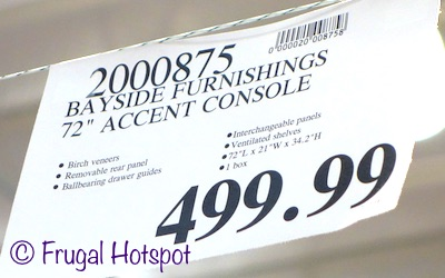 Costco Price: Bayside Furnishings 72 inch Accent Cabinet