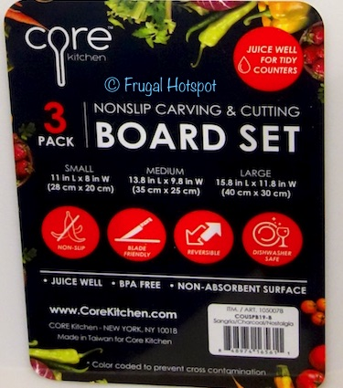 Core Kitchen 3-Pack Nonslip Carving and Cutting Board Set at Costco