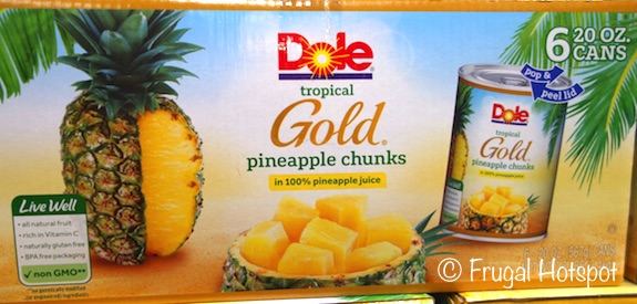 Dole Tropical Gold Pineapple Chunks 6/20 oz at Costco