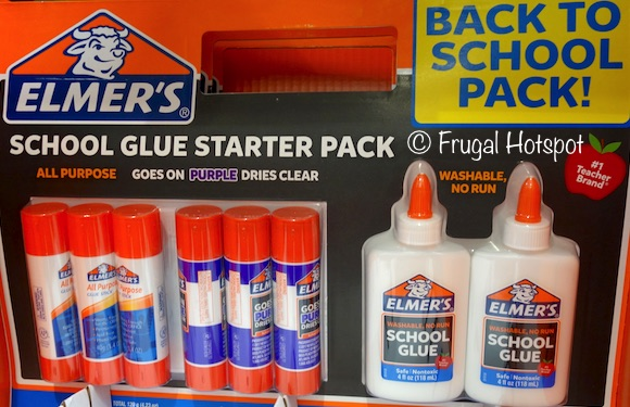 Elmer's Glue School Starter Pack 8-ct (6 sticks and 2 bottles) at Costco