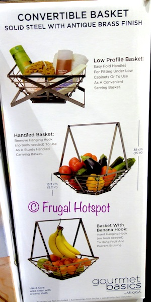 Gourmet Basics by Mikasa Convertible Fruit Basket at Costco