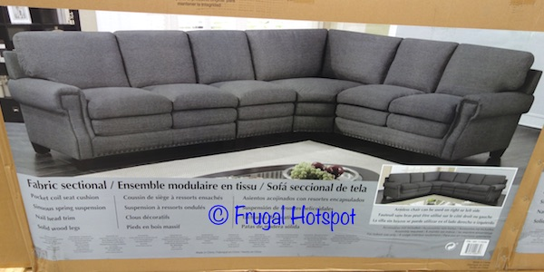 Gray Fabric Sectional at Costco