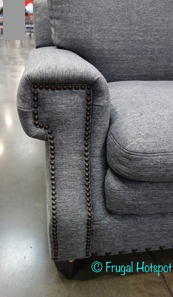 Nailhead trim on Gray Fabric Sectional at Costco