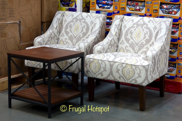 Home Pop by Kinfine 3-Piece Fabric Chair and Accent Table Set at Costco