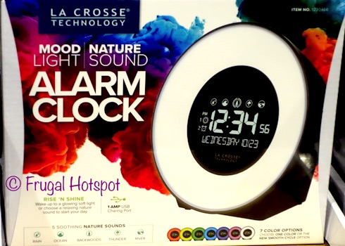 La Crosse Technology Mood Light and Nature Sound Alarm Clock at Costco