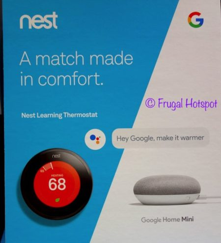 Nest Learning Thermostat + Google Home Mini Bundle at Costco