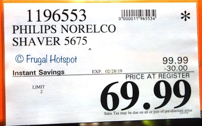 Costco Sale Price: Philips Norelco Shaver 5675