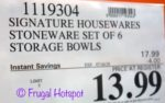Costco Sale Price: Signature Housewares 6 Serving Bowls with Lids