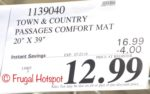 Costco price: Town & Country Passages Comfort Mat