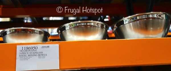 Tramontina 3-Piece Stainless Steel Mixing Bowls at Costco