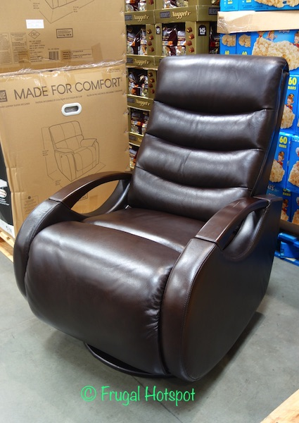 True Innovations Brown Leather Glider Recliner at Costco