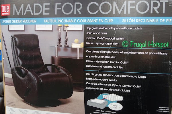 True Innovations Leather Glider Recliner At Costco