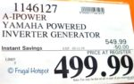 Costco Sale Price: A-iPower Yamaha Powered Inverter Generator
