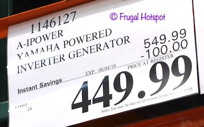 A-iPower Yamaha Powered Inverter Generator Costco Sale Price