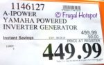 Costco Price A-iPower Yamaha Powered Inverter Generator $449.99