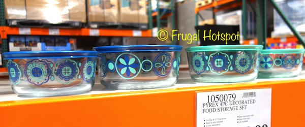 Pyrex Simply Store 8-Piece Decorated Glass Food Storage Set at Costco