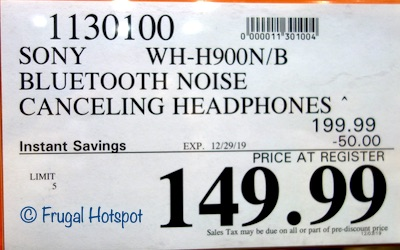 Sony h.ear on 2 Premium NC Headphones Costco Sale Price