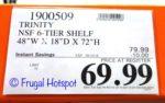 Trinity 6-Tier Wire Shelving Rack Costco Price $69.99