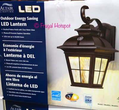 Altair Lighting Outdoor Energy Saving LED Lantern at Costco