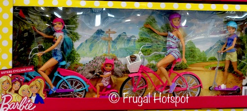 Barbie Sisters Cycling Fun at Costco