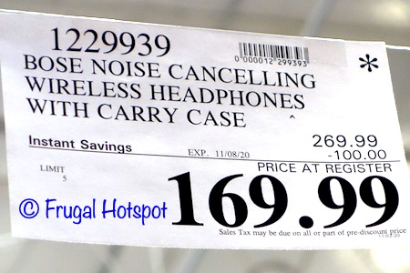 Bose QC35 Noise Cancelling Wireless Headphone Costco Sale Price