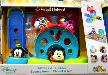 Disney Baby Mickey and Friends PlaysetGo Grippers Bounce Around Playset and Mat at Costco