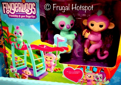 Costco: Fingerlings Monkey Bar Playset Includes Savannah and Clara.