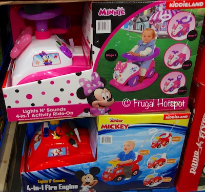 Costco: Kiddieland Disney Lights N' Sounds 4-in-1 Activity Ride-On: Choose from Minnie OR Mickey Fire Engine